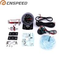 Free shipping CNSPEED 60mm 2.5 Car Turbo Boost Gauge 3 BAR 12V + Turbo Boost controller kit adjustable 1 30PSI With Sensor
