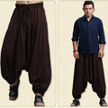 China National Unique Fashion Comfortable Cotton Linen Cross Pants Men Hanging Crotch Pants Hip Hop Big Crotc Bloomers Pants