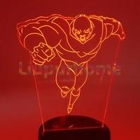 Dragon Ball Super Jiren 3D Visual Illusion LED Dragon Ball Z Goku Usb Led Night Lights