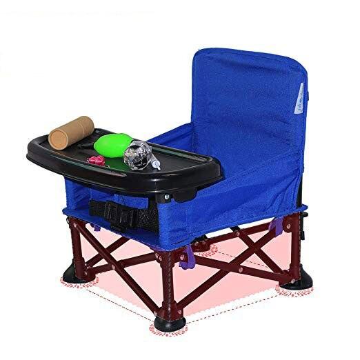 Siège bébé Portable rehausseur chaise bébé pliante avec plateau et sac de transport chaise haute pour Camping en plein air voyage siège bébé
