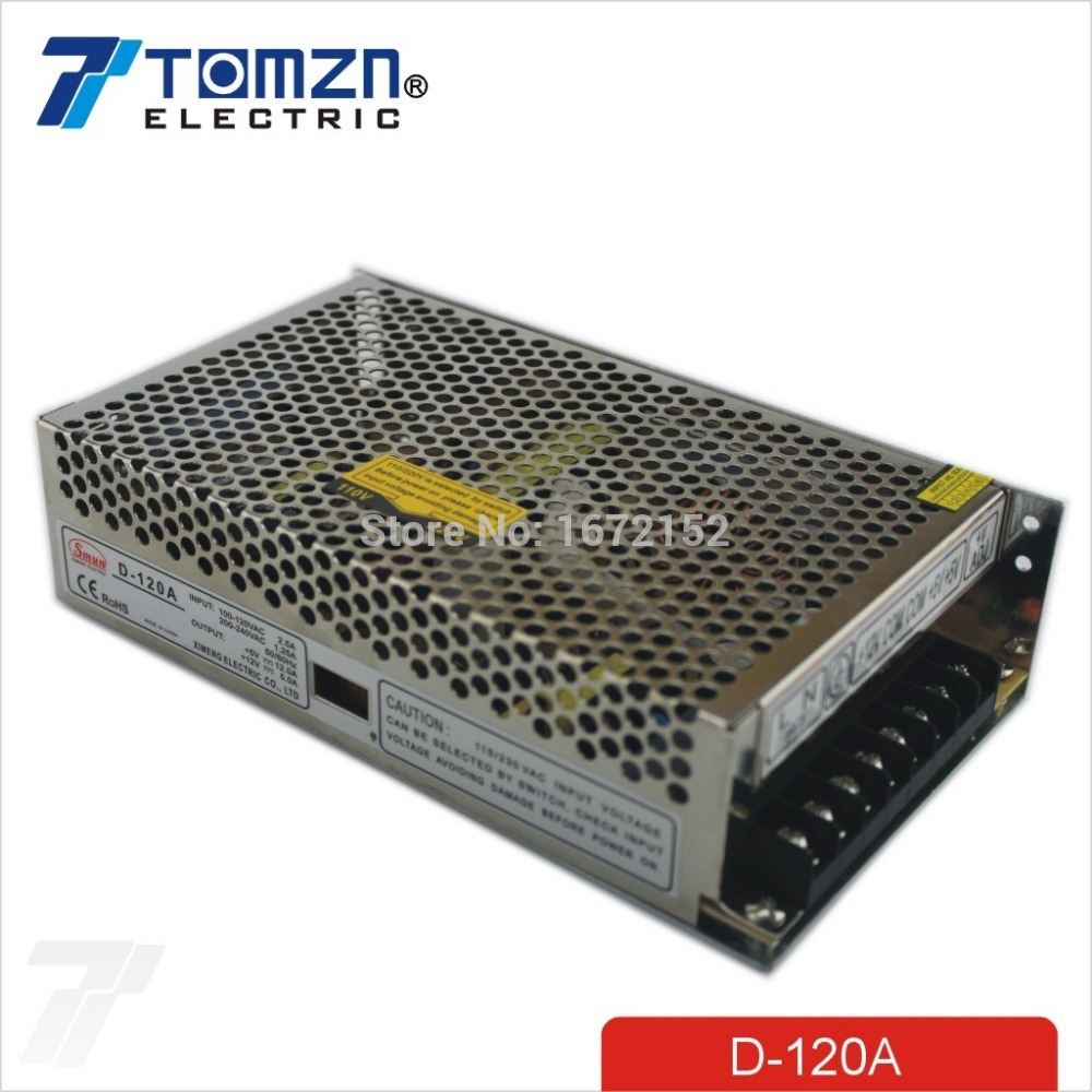 120W Dual output 5V 12V Switching power supply AC to DC DC12A DC5A минипечь gefest пгэ 120 пгэ 120