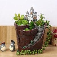 Vertical Hanging Garden Mini Ceramic Plastic Bonsai Clay Flower Pot Stand Terracotta Nursery Succulent Planters Pots