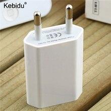 Kebidu Универсальный USB AC EU/US настенный адаптер питания зарядное устройство адаптер для iPhone смартфон для MP3 MP4 камеры