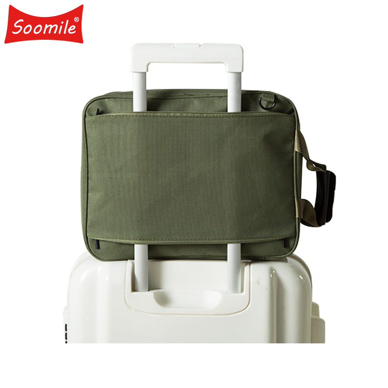 Soomile 2018 New Men Excursion Bag High Capacity Canvas Solid Travel Bags Fashion Brand Duffle Single shoulder Bags For Clothing
