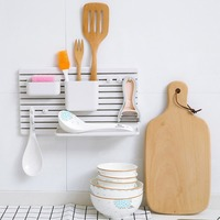 Plastic Toothbrush Storage Shelf Adhesive Type Wall Mounted Toilet Bathroom Washbasin Kitchen Sorting Rack Holder Shelf