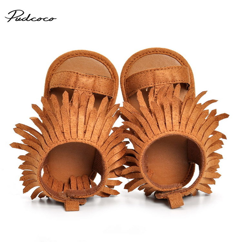 0-18M Fashion Cute Breathable Sneakers Sandals Shoes Baby Boys Girls Child Baby Infant Casual Tassel Shoes 2 Colors