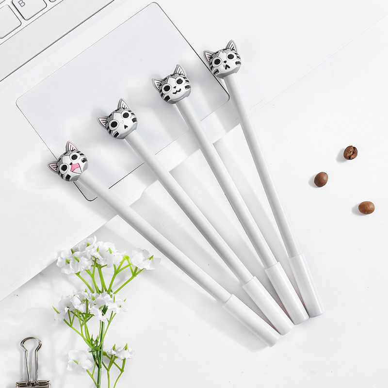 1pcs Kawaii Creative gel pen cute Black cat pattern school Office stationery Supplies Black Black ink 0.5mm Pen refill