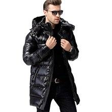 Famoso diseño de lujo por los hombres chaqueta Winer Down Jacket 90% pato blanco Parka chaquetas a prueba de viento para-30 grados C12ABC