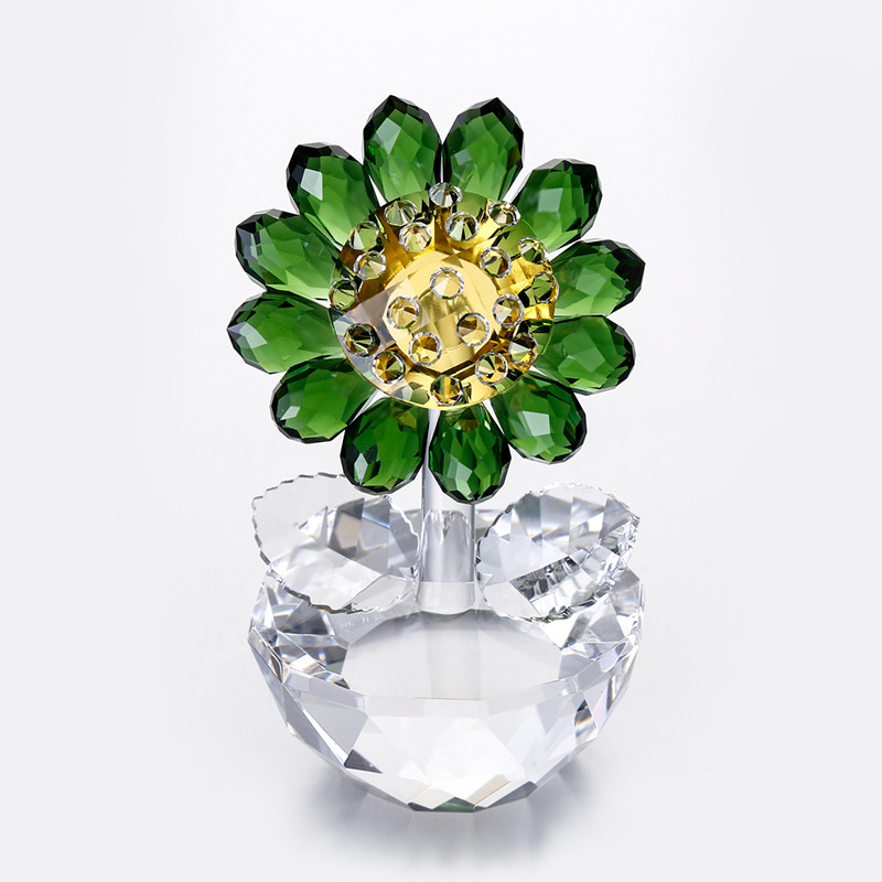 Mom's Day items,Crystal Sunflower Collectible figurines & Miniature Glass Paperweight Unfading Bouquet Sculpture Decoration Dwelling Decor Statues & Sculptures, Low-cost Statues & Sculptures, Mom's Day items,Crystal Sunflower Collectible figurines...
