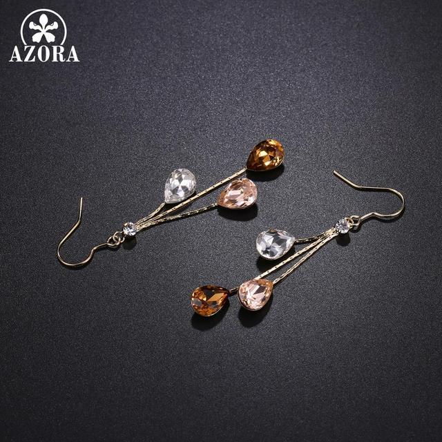 Three Water Drop Earrings