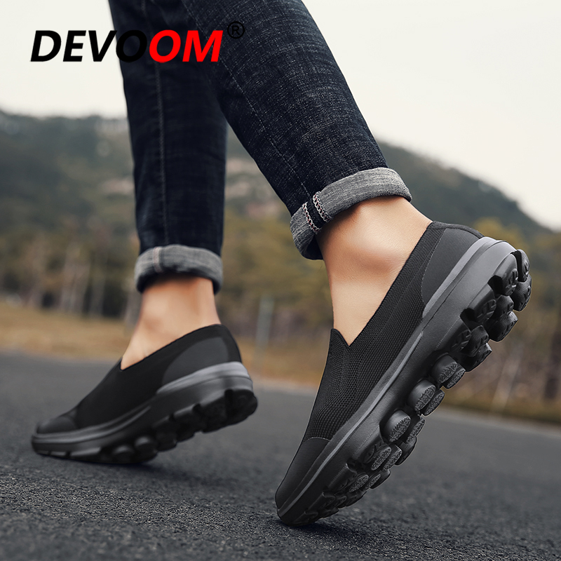 Summer Mens Slip On Shoes Casual Air Mesh