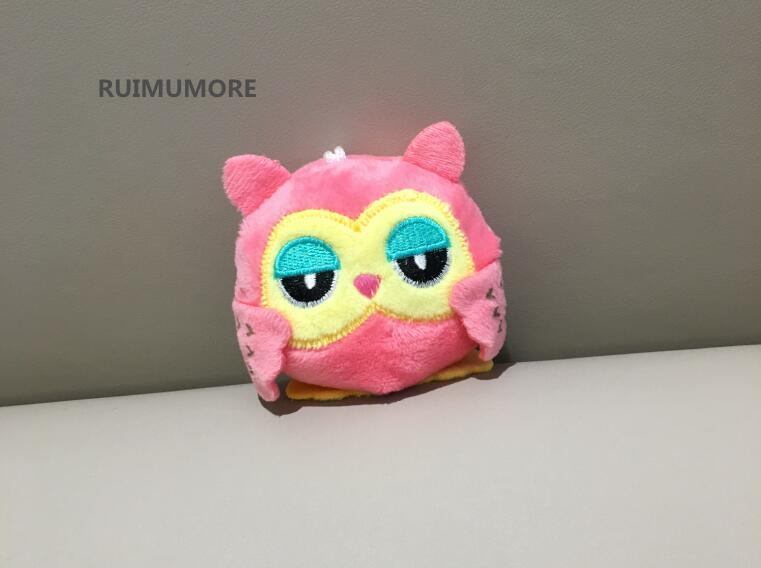 Sweet 2colors Owl 9cm Key Chain Toys Plush Stuffed Animal Owl Toy