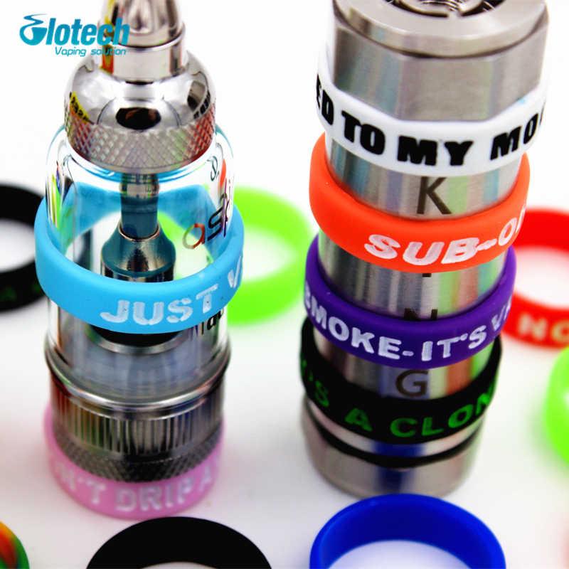 Glotech 5 шт./10 шт. вогнутое Силиконовое резиновое кольцо для электронной сигареты кольцо для 22 мм механический мод декоративная резиновая защита полоса для 18650