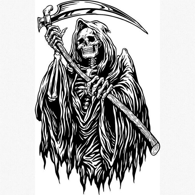 Frightened Grim Reaper Monster Zombie Death Scythe Picture ...