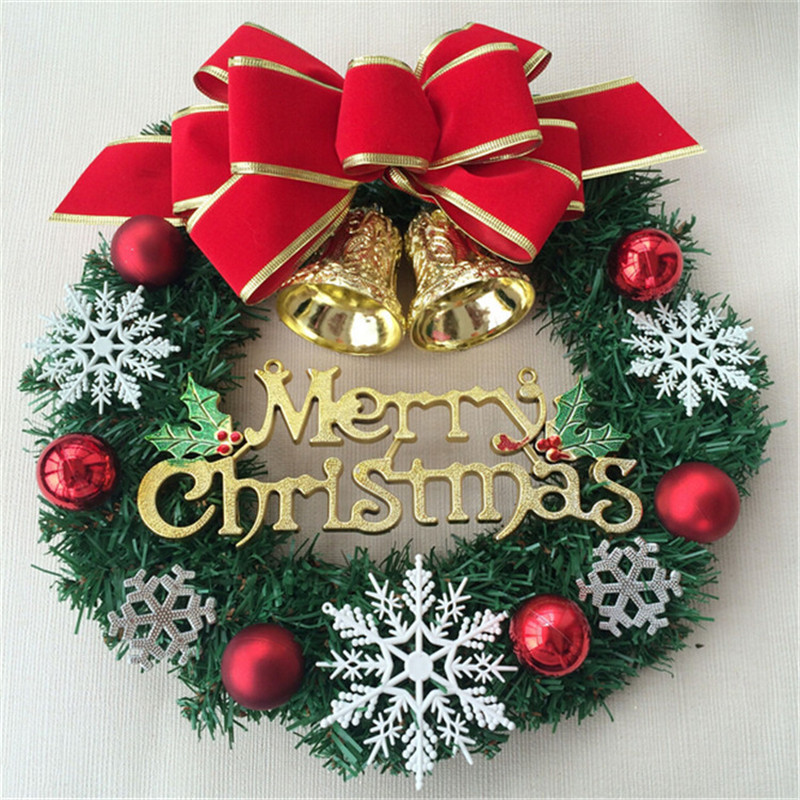 large outdoor christmas decorations new merry christmas wreaths xmas garlands xmas tree door decor ornament in christmas from home garden on - Large Outdoor Christmas Wreath