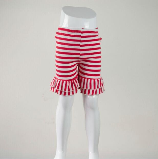 Girls White Elastic Waist Ruffle Bottom Icing Boutique Shorts 12M-7