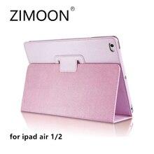 Zimoon Para Apple iPad Aire 1 2 Caso Magnético Estela Auto Arriba Sleep Voltear PU Folio Cubierta de Cuero Con El Sostenedor Del Soporte Inteligente Para iPad 5/6