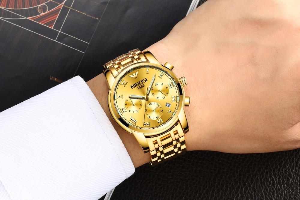 f1e335f2d0c Relógio NIBOSI Blindado Inox Funcional - Rei do Relógio