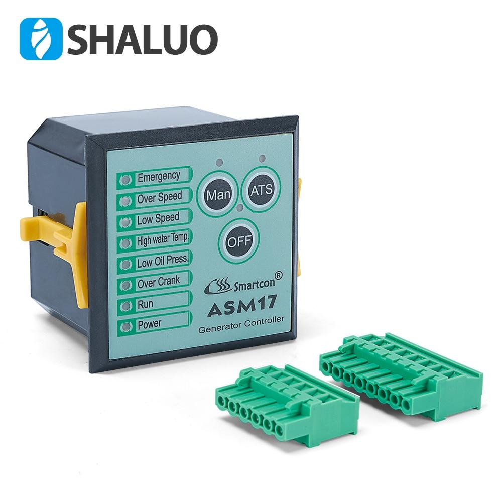 Genuine Control Panel Unit ASM17 Power Generator Controller GTR-17 genset part alternator motor autostart circuit board monitor