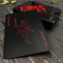 2019 Red black Waterproof Durable PVC Plastic Playing Cards with retro back stripe Novelty Texas poker game Poker Cards