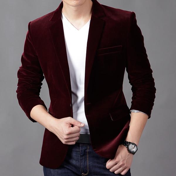 Black/Blue/Khaki Spring 2014 New Fashion Men'S Velet Thick