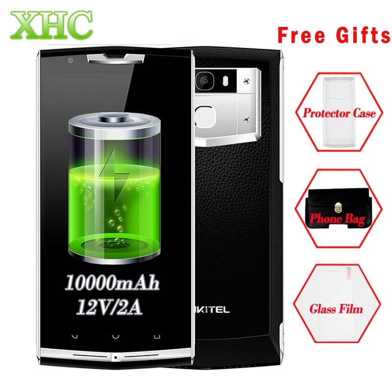 OUKITEL K10000 Pro 10000mAh 12V 2A 5.5 inch Android 7.0 Smartphone 3GB 32GB MTK6750T Octa Core Fingerprint Id Mobile Phone