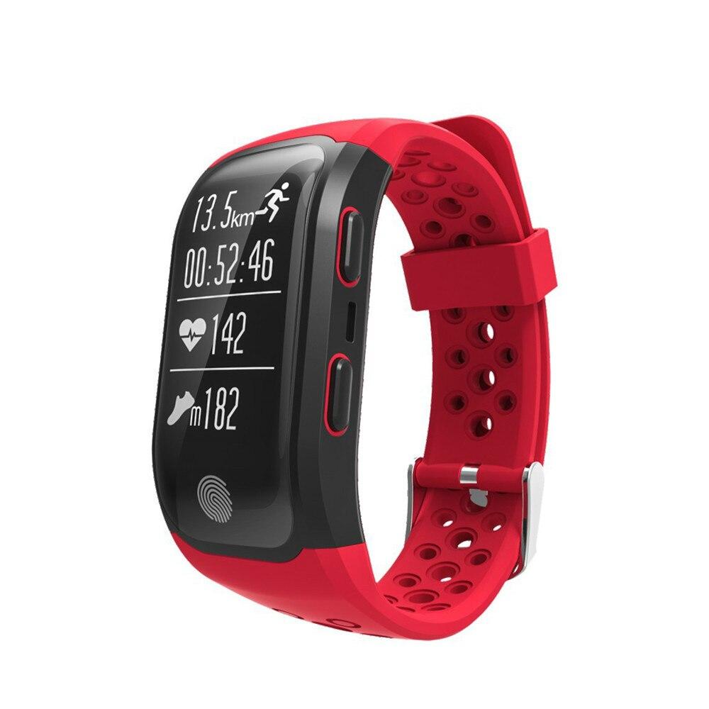 S908 Bluetooth GPS Tracker Bracelet IP68 étanche Bracelet intelligent moniteur de fréquence cardiaque Fitness Tracker bande intelligente