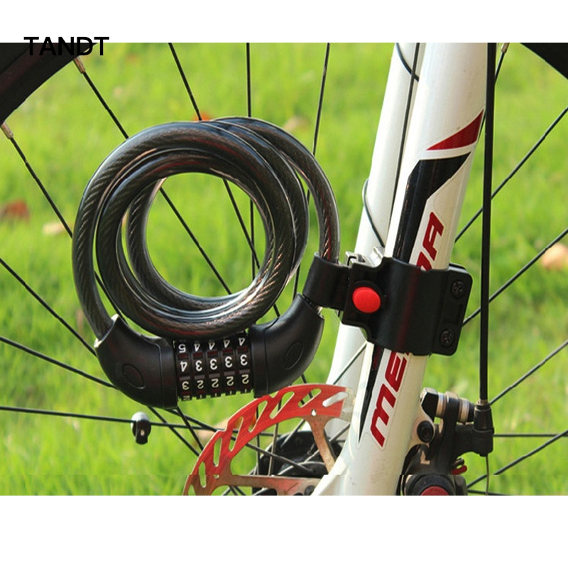 Bike lock cable combination Mountain Bicycle 4 Bit Chain Electric Anti-theft