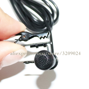 Image 3 - Black Mini 3.5mm Jack Microphone Lavalier Tie Clip Microphones Microfono Mic For Speaking Speech Lectures 1.2m Long Cable