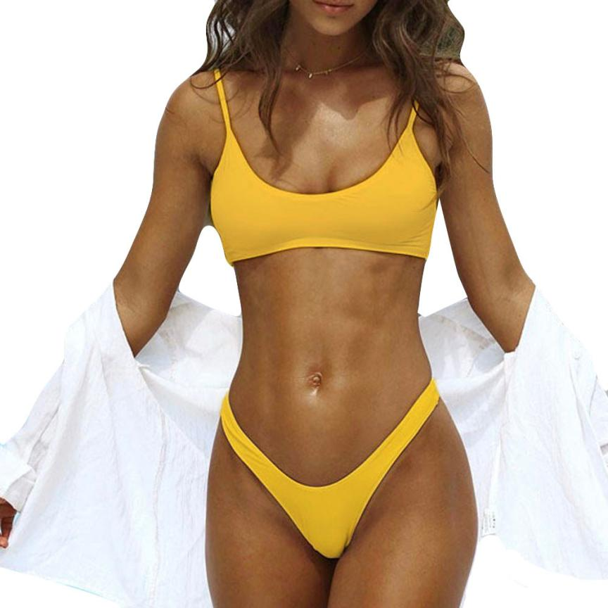 snowshine3 YLI Women Push-Up Padded Bra Beach Bikini Set Swimsuit Swimwear free shipping