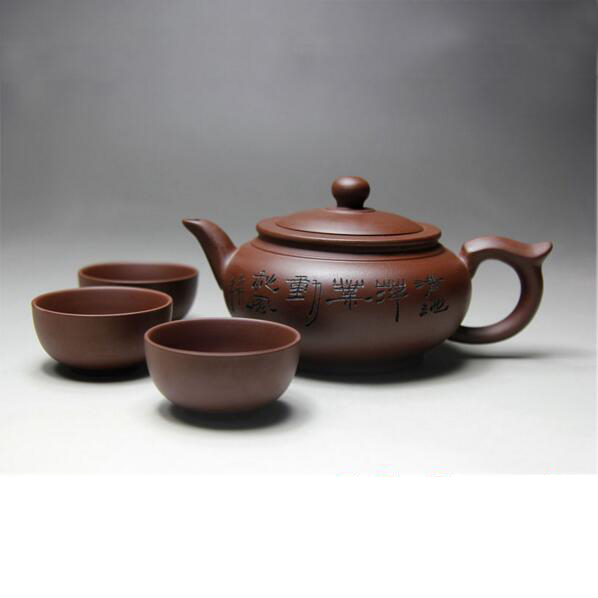 Yixing Ceramic Teapot Handmade Porcelain Tea Pot Cup Set