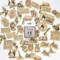 46 teile/los Vintage Kleine tiere paste mini papier aufkleber paket DIY tagebuch dekoration aufkleber album scrapbooking