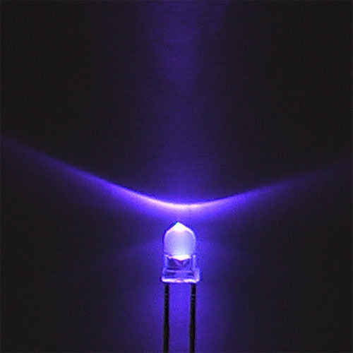 50 pces f3 3mm redondo ultra violeta led uv luz 395-400nm roxo lâmpada nova