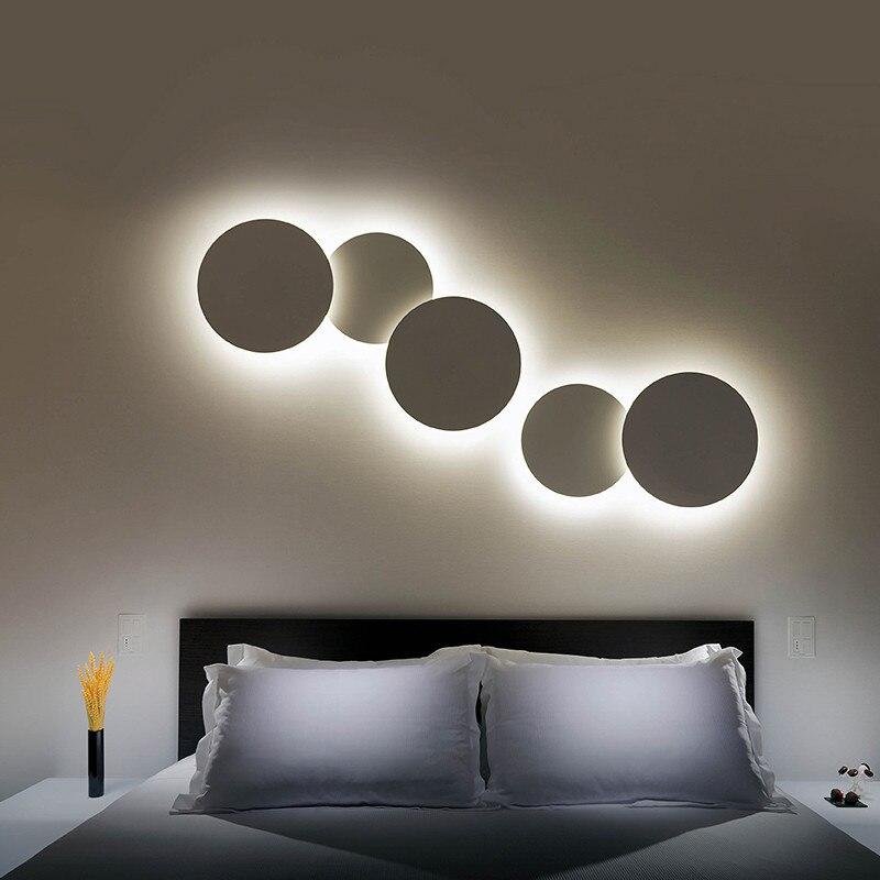 Творческий сделай сам круговой фон бра для гостиной Спальня ночники коридор прохода Лестницы балкон 220 В 110 В