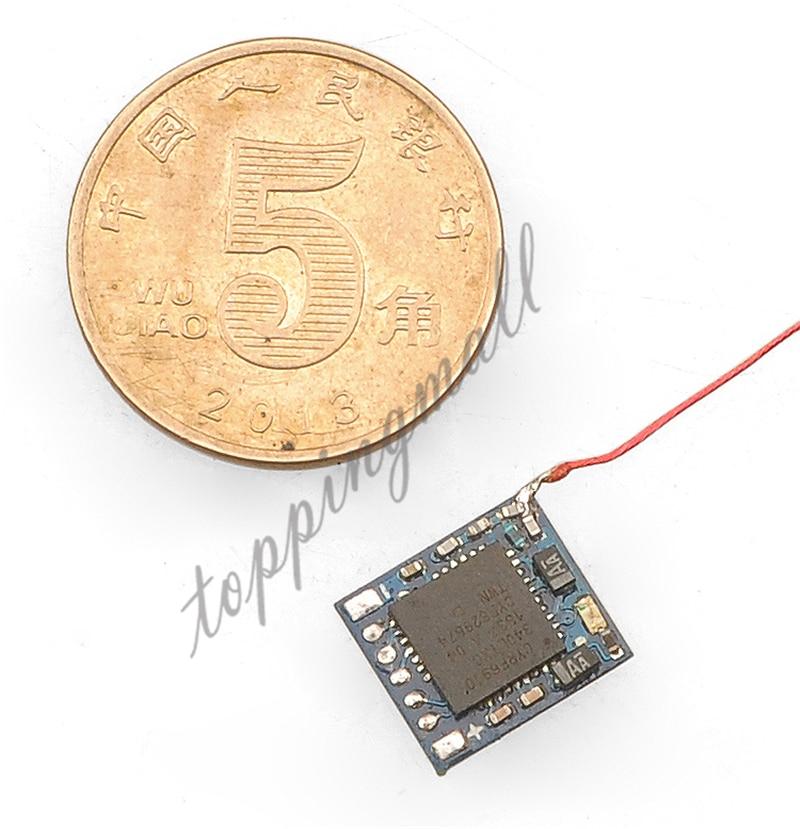 Micro 2.4G 5ch DSM2 Receptor com Entrada PPM para DIY Mini RC Escova/Brushless Zangão Piloto Interior