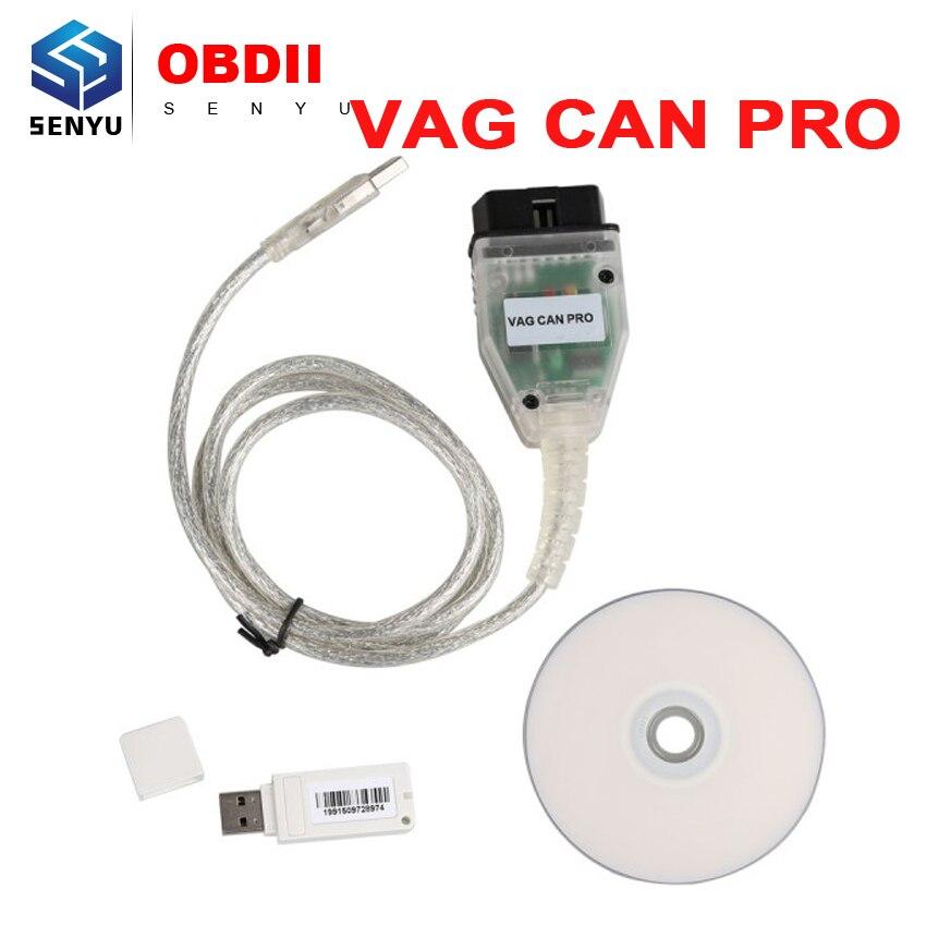 Prix pour 2017 VAG PEUT PRO V5.5.1 OBD OBD2 Câble De Diagnostic Pour PEUT BUS + UDS + Support k-line pour VW/Audi/Seat VAG PRO S.W V5.5.1 avec Dongle