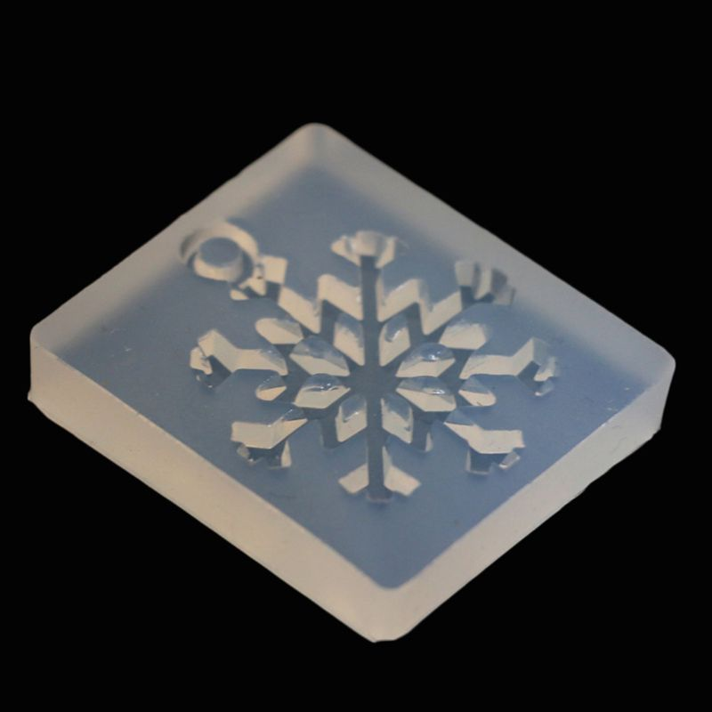 Silicone Mold Christmas Snowflake DIY Crafts Jewelry Making Pendant Epoxy Resin Jewelry Molds