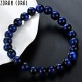 Высокое качество темно-синие камень тигровый глаз бисер Исцеление баланс Будда браслетом обувь для мужчин и женщин браслеты подарки Pulsera hombres - фото