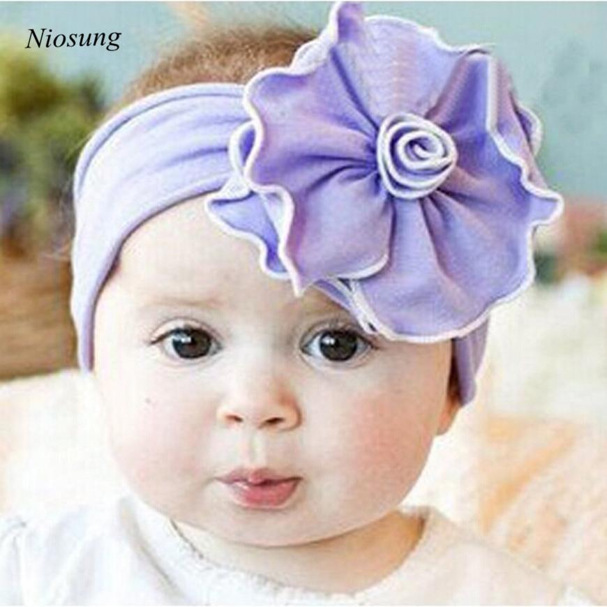 ⃝Niosung precioso unusal algodón Niñas bebé venda de La Flor ...