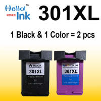 2 Pcs 301XL Ink Cartridge Replacement For Hp301 HP 301 Xl CH563EE CH564EE For Deskjet 1000