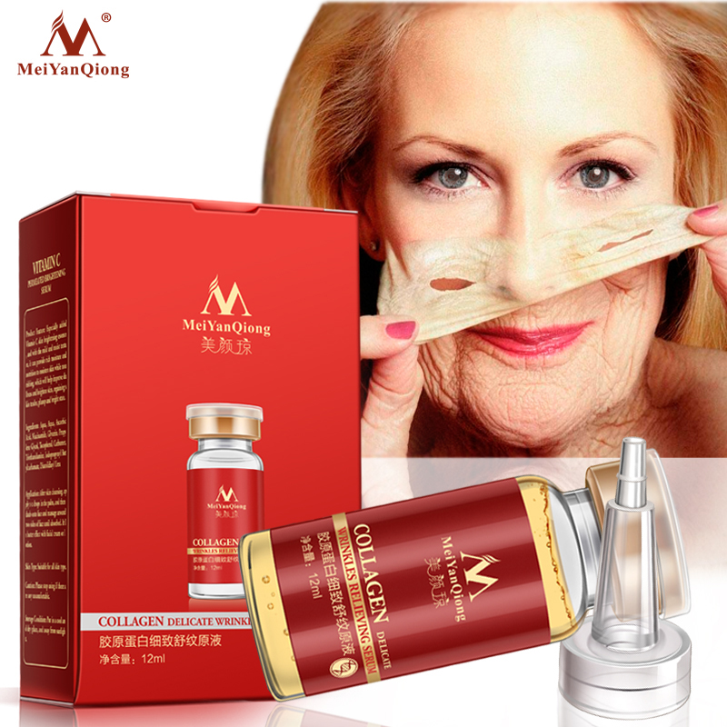 Collage Argireline+aloe vera+collagen rejuvenation anti wrinkle Serum for the face skin care products anti-aging cream 12ML image