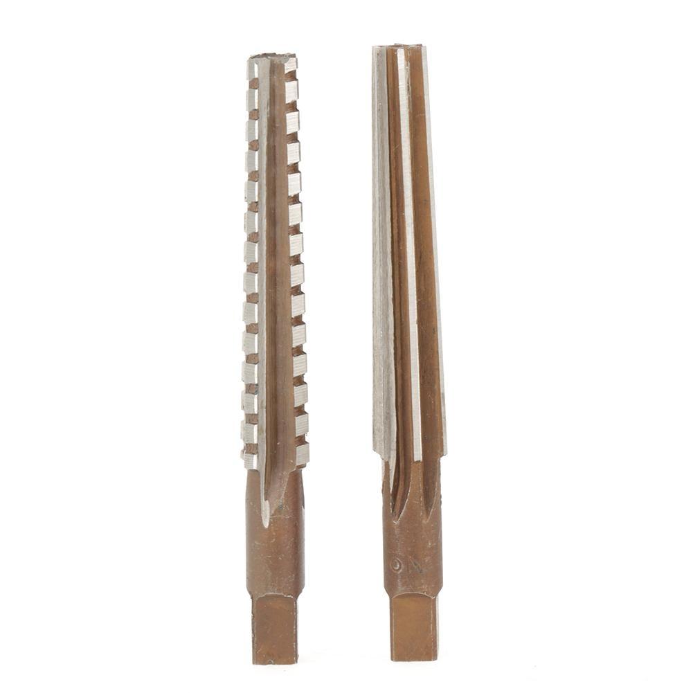 2x HSS MT2 Taper Fine//Rough Reamer Cutter Tool Set Straight Shank 1.5x12.5cm DY
