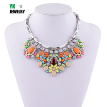Women Chokers Necklaces Chunky Gem Necklace
