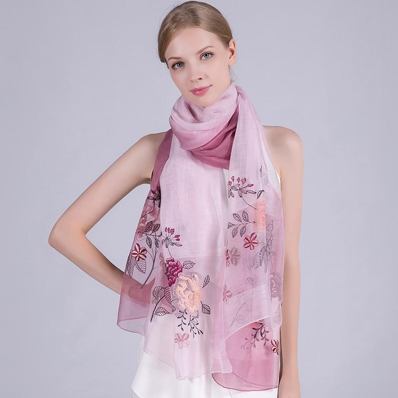 Жібек жүнінен жасалған шарф 2019 сәнді - Киімге арналған аксессуарлар - фото 5