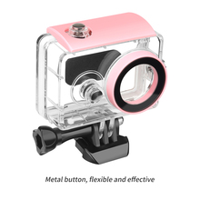 цена на 40M Diving Waterproof Case for Xiaomi Yi 1st Xiaoyi Action Camera Transparent Protective Housing Case for Xiaoyi Accessory