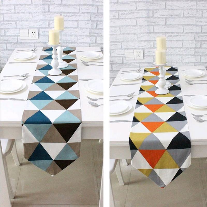 Nordic Enostavna moderna Geometrija Vektorska rešetka Namizna - Domači tekstil - Fotografija 1