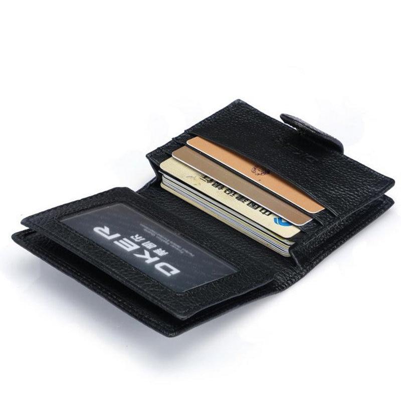 Hot Sale Genuine Leather Men Card Holder Wallet for Credit Cards ...