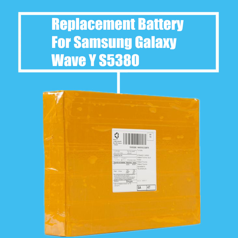 50Pcs/Pack 1200mah Replacement <font><b>Battery</b></font> for <font><b>Samsung</b></font> Galaxy Y Duos GT-S5360 GT-S5380/D <font><b>S5300</b></font> Wave Y High Quality image