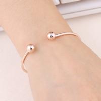NS84 Hot Sale Simple Cuff   Bracelet   Gold-Color   Bangle     Bracelet   For Women Silver Color Metal   Bracelet   Fashion Jewelry Wholesale