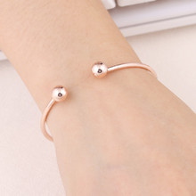 NS84 Hot Sale Simple Cuff Bracelet Gold-Color Bangle Bracelet For Women Silver Color Metal Bracelet Fashion Jewelry Wholesale